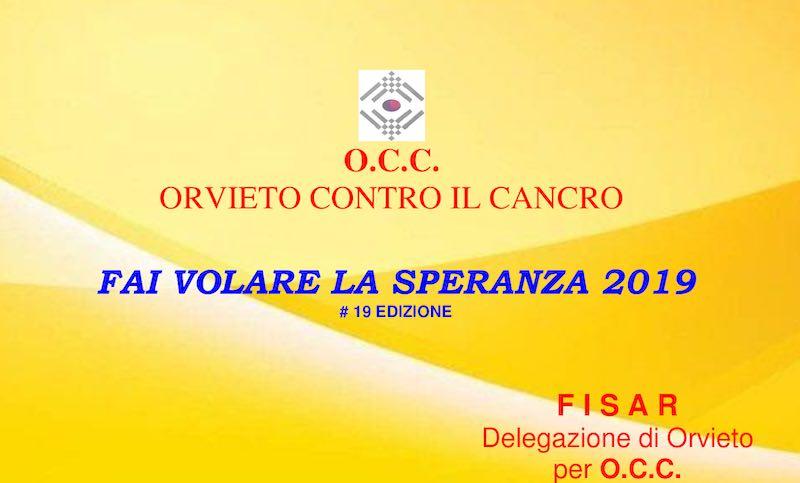"""""""Fai volare la Speranza 2019"""", Fisar – Delegazione di Orvieto – per OCC"""