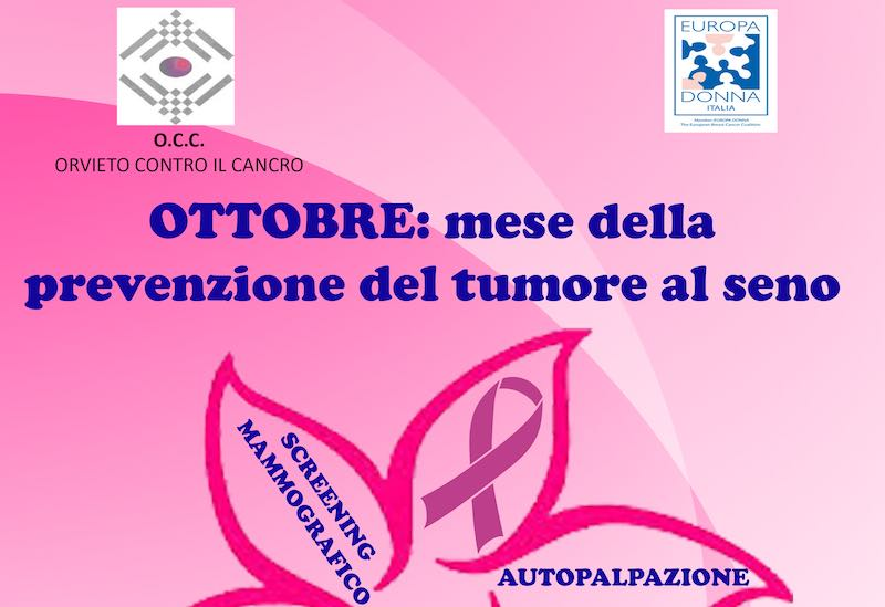Ottobre è il mese della prevenzione del tumore al seno
