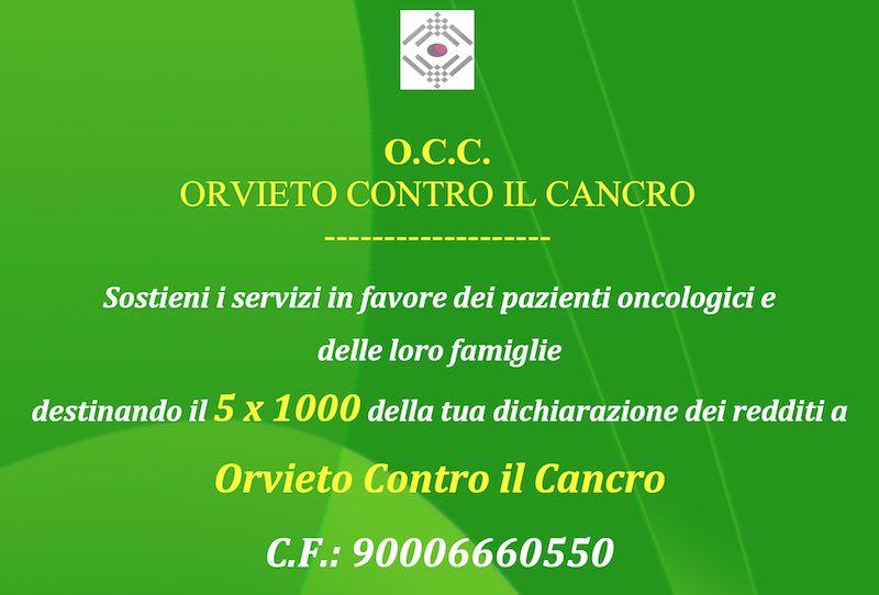 """5×1000 a sostegno di """"Orvieto Contro il Cancro"""""""