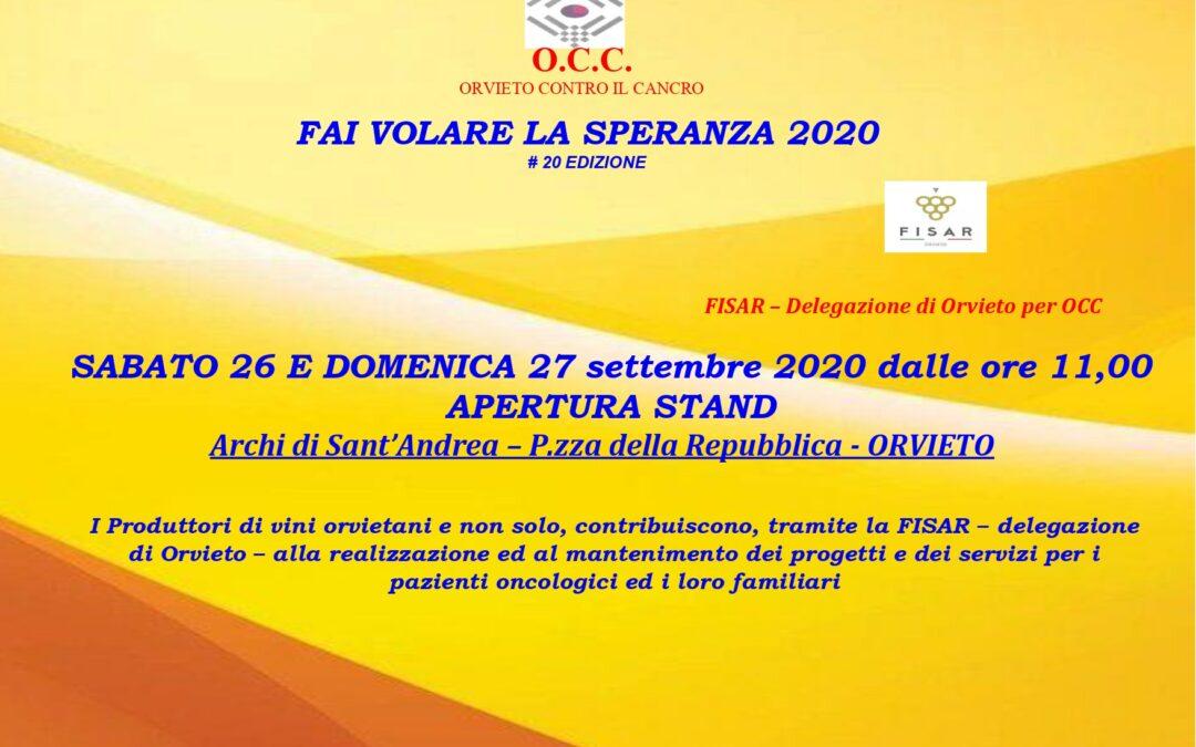 """La Delegazione Fisar di Orvieto affianco ad OCC per """"Fai volare la Speranza 2020"""""""
